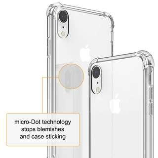 🚚 iPhone Xr Anti Shock Clear Case with Free Tempered Glass