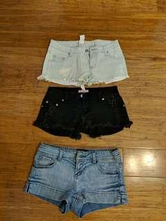 Shorts $10 for all 3