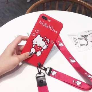 Hello Kitty Phone Cover Casing Lanyard