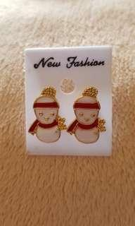 Snowman Ear Ring To Boost Your Xmas!