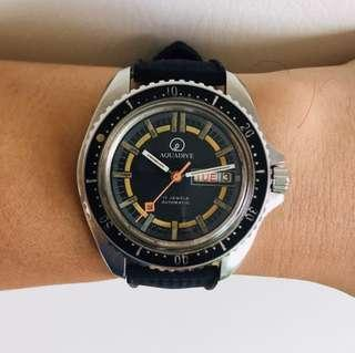 Vintage Aquadive Day Date Professional Divers Automatic watch