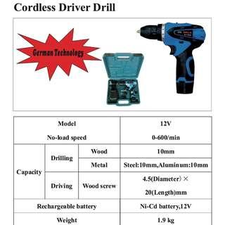 BELL Cordless Power Drill 12V on Promotion @ $60 ~ 100% Brand New!