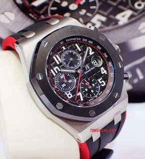 Latest Model !! 🔥AUDEMARS PIGUET Royal Oak Offshore 42mm Ceramic Bezel Auto Chrono Stainless Steel watch. Swiss made. Model 26470SO.OO.A002CA.01. The New Vampire🧛♂