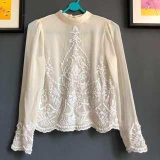 Miss Selfridge Delicate Beaded Blouse