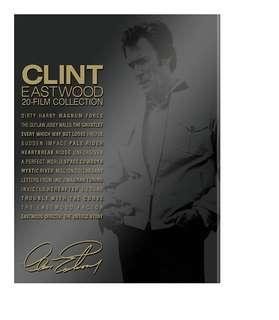 Clint Eastwood 20 Film Collection Bluray Boxset   22 Discs