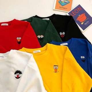Sesame Street 6 colours hoodie sweatshirt