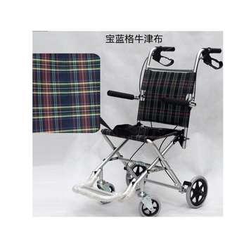 老人長者兒童健康輪椅 wheel chair 超輕約10kgs鋁合金摺合快捷方便折叠超轻便携帶 只用推兩次 保証九成新 $490