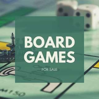 BOARD GAMES FOR SALE!!!