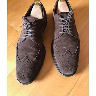 Tod's suede brogues 麂皮 leather shoe