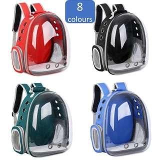 capsule carrier backpack dog cat pet ufo transparent astronaut, not litter condo scratch cage