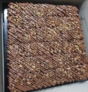 Walnut nutella brownies