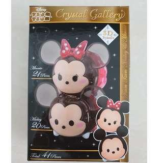 HANAYAMA 3D Pazzle Crystal Gallery Mickey and Minnie Mouse 41 pieces