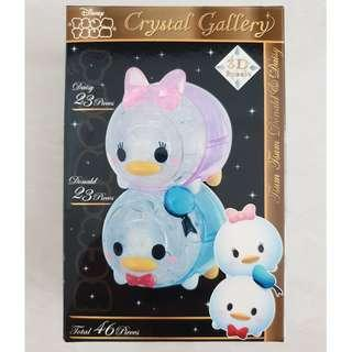 HANAYAMA 3D Pazzle Crystal Gallery Donald and Daisy 46 pieces