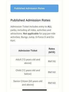 Sunway lagoon  + wipeout tickets cheap