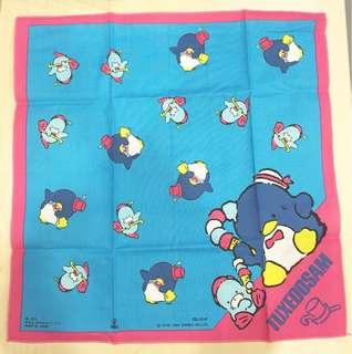 Sanrio vintage Tuxedo Sam 大方巾 42cm 1984