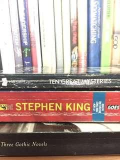 Horror/Gothic/Supernatural fiction bundle - Stephen King, Edgard Allan Poe, Mary Shelley, William Bedford, Horace Walpole