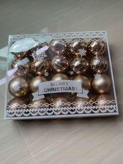 🚚 Champagne rose gold Christmas decorative ball