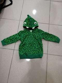 H&M 9成新,超級可愛恐龍外套,1-2歲可穿
