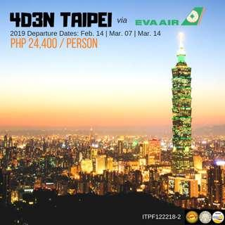4D3N Taipei via Eva Air