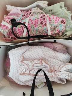 WTG 2 bags of newborn girl clothes
