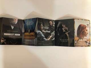 5x 2018 award season movie postcards