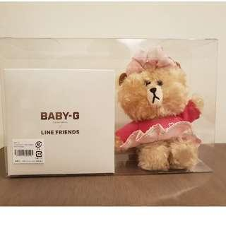 CASIO BABY-G Limited Edition × LINE FRIENDS with chocolate doll 1000 pieces only