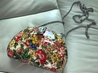 復古 花花 硬盒袋