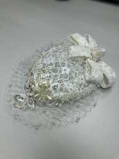 婚紗米色禮帽