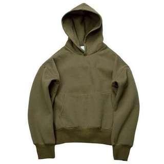 h&m olive green hoodie