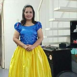 FOR RENT SNOW WHITE COSTUME FIT M TO L