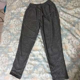🚚 灰色鬆緊褲