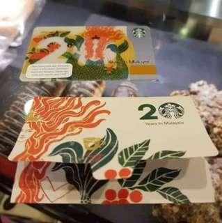 🚚 Malaysia 20th Anniversary Starbucks Card 2018