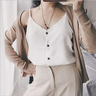 Ulzzang Buttoned Top ( White )