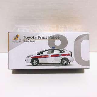 全新未拆 Tiny 微影 #80 第一版 豐田 Toyota Prius 警車