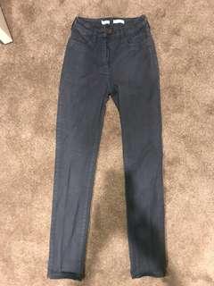Wrangler High Waisted Dark Blue Jeans