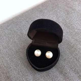 Brand new fake pearl stud earrings