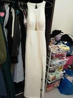White dinner dress