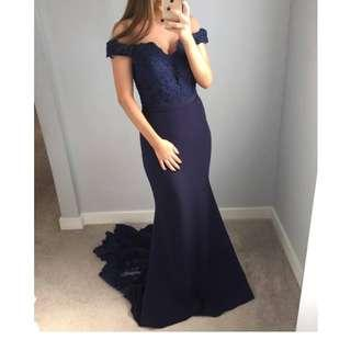 HIRE/RENT FORMAL DRESS NAVY JADORE