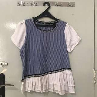 Leivin Blue Stripe Top