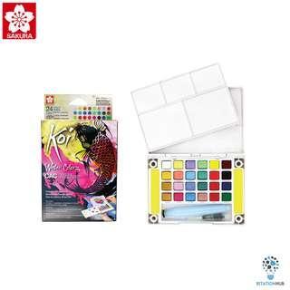 Sakura Koi Watercolor CAC Pocket Field Sketch Box | 24 Colours [FM-XNCW-24MPN]