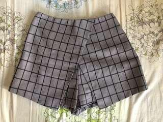 🚚 MDS PLAID CHECKERED SKIRT SHORTS