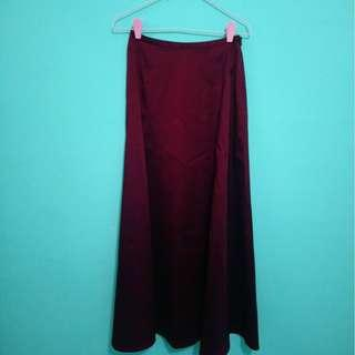 Maroon 2 piece dress (skirt + top)