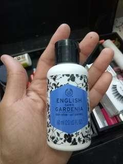 Hand and body lotion the body shop