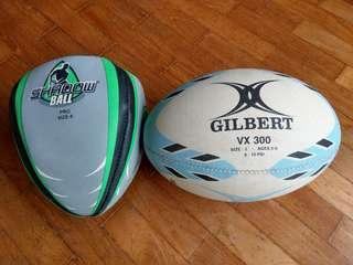 Rugby balls (2) for kids training