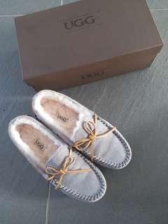 UGG Grey colour Dakota shearling-lined suede moccasins (Tod's style)