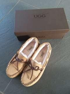 UGG Beige colour Dakota shearling-lined suede moccasins (Tod's style)