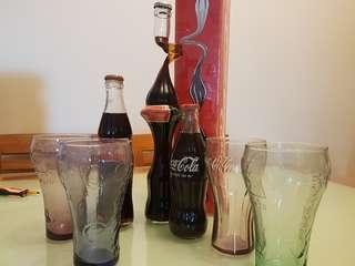 Cocacola bottle and cups