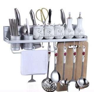 Rak dapur gantung rack hanger hook kitchen tempat penyimpanan storage gantungan sendok garpu pisau spoon fork knife