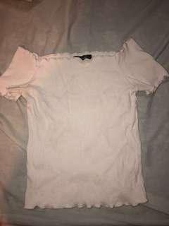 Glassons White off-shoulder top