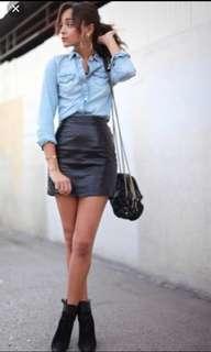 NEW Bardot Leather Skirt